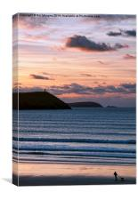 Polzeath Sunset, Canvas Print