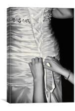 Satin Laces, Canvas Print