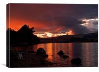 Loch Rannoch Sunset, Canvas Print