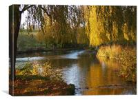 River Len in Autumn, Canvas Print
