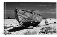 Dungeness Decayed Boat, Canvas Print