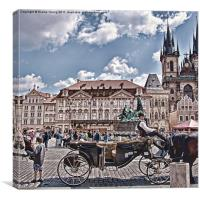 Prague - Wenceslas Square, Canvas Print