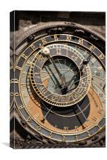 Prague - Clock, Canvas Print
