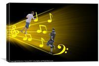 Dance On Music, Canvas Print