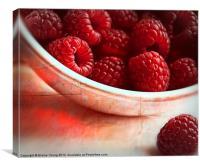 Raspberries, Canvas Print