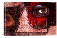 Mask Collection, Canvas Print