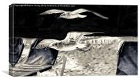Low Flying Birds, Canvas Print