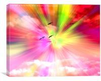 Rainbow Sky, Canvas Print