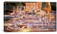 Wedding Table, Canvas Print