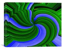 Green And Blue Grass Abstract, Canvas Print