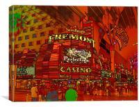 Downtown Las Vegas, Canvas Print