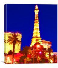 The Colourful Las Vegas, Canvas Print