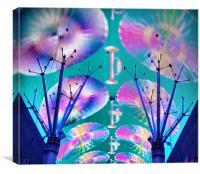 Fremont Street Laser Show, Canvas Print
