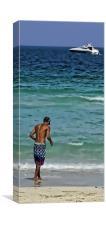 Dip In The Sea, Canvas Print