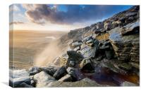 Kinder Downfall Sunset, Canvas Print