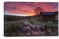 Wildboarclough Sunrise, Canvas Print