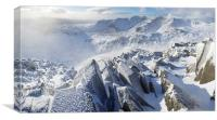 Bowfell to Scafell, Canvas Print