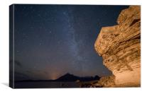 Elgol Night Sky , Canvas Print