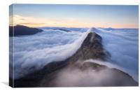 Suilven Sunrise Wild Camping Inversion, Canvas Print