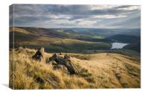 Sandy Heys - Kinder Scout , Canvas Print