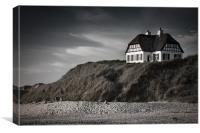The Beach house, Canvas Print
