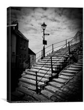 Whitby Abbey steps, Canvas Print