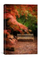 The Park Bench, Canvas Print