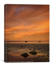 Boulmer at sunrise, Canvas Print