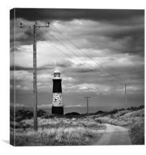 Spurn Point lighthouse, Canvas Print
