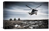 Helicopter landing, Canvas Print