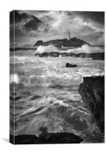 Waves at Godrevy, Canvas Print
