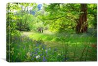 A Spring stroll, Canvas Print