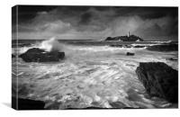 Waves at Godrevy, Canvas Print