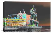 Funky Fair At The End Of The Pier, Canvas Print