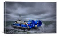 Southsea To Isle Of Wight Hovercraft, Canvas Print