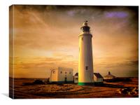 Hurst Point Lighthouse, Canvas Print