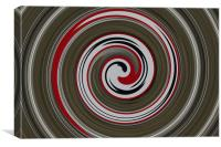 abstract sign swirl, Canvas Print