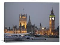 Westminster At Dusk, Canvas Print