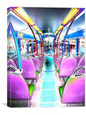 Inside The Groovy Bus!!, Canvas Print