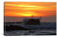 Sunset Rock, Canvas Print