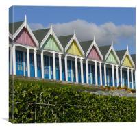 Weymouth Beach Huts, Canvas Print