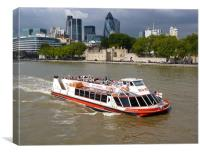 Thames Trippers, Canvas Print