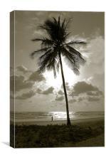 Beach Scene Duotone, Canvas Print
