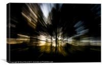 Tree Abstract zoom burst, Canvas Print
