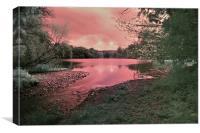 Fyvie Lake IR, Canvas Print