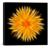 Electric Sunburst, Canvas Print