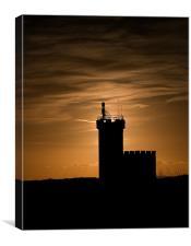 Sunset over Elie Lighthouse, Canvas Print