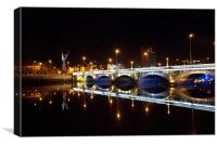 Bridge in Belfast, Canvas Print