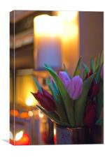 By Candle Light, Canvas Print