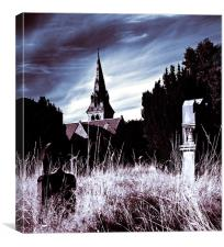 The Churchyard, Canvas Print